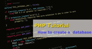 php tutorial 1