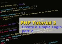 PHP Tutorial 2 – Create a simple Login page part 2